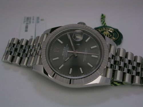 ROLEX DATEJUST II 41MM 126334 DARK RHODIUM JUBILEE 2018