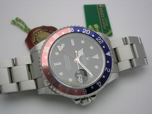 ROLEX GMT-MASTER II  16710 PEPSI 2001
