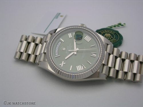ROLEX DAY-DATE 228239 2019 OLIVE GREEN DIAL