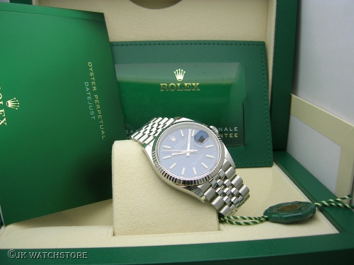 ROLEX DATEJUST 36MM 126234 2021 BLUE DIAL JUBILEE