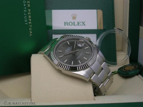 ROLEX DATEJUST II 126334 NEW MODEL DARK RHODIUM