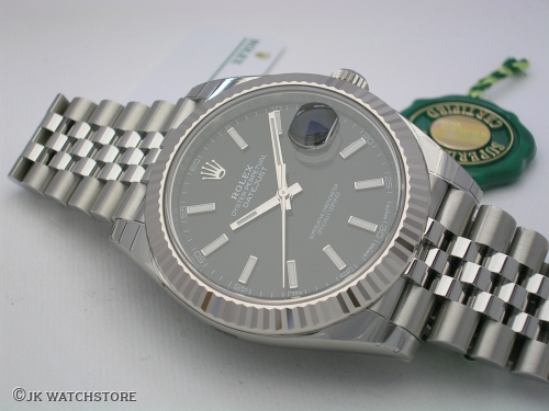 ROLEX DATEJUST II 126334 NEW MODEL BLACK RHODIUM