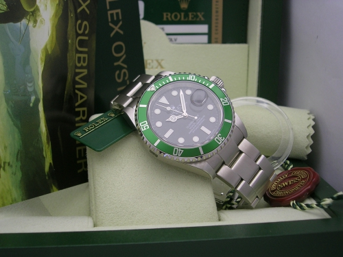 ROLEX SUBMARINER 16610LV 2008 NOS