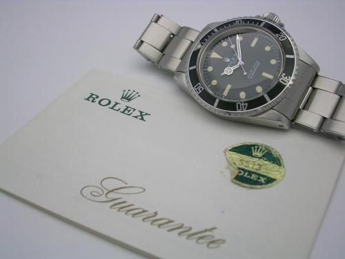 ROLEX SUBMARINER 5513 1971 BOX/PAPERS