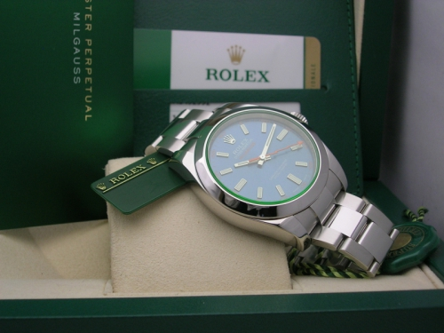 ROLEX MILGAUSS 116400GV BLUE 2015