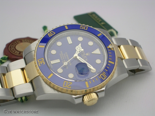 ROLEX SUBMARINER 116613LB 2013 OLD-FLAT BLUE SMURF DIAL