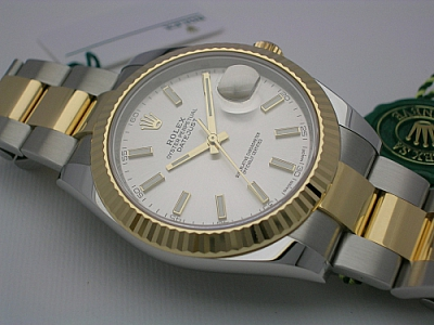 ROLEX DATEJUST 41  126333 2018  SILVER DIAL