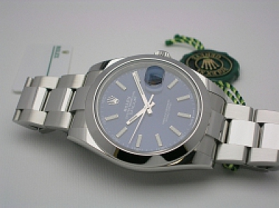 ROLEX DATEJUST 41 126300 2019  BLUE DIAL OYSTER