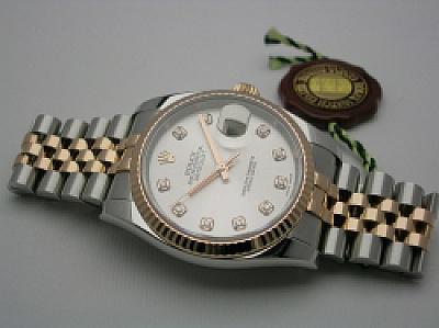 ROLEX DATEJUST 116231 2012 STEEL/EVERROSE SILVER - DIAMOND  DIAL