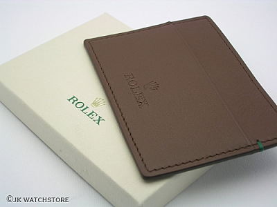 ROLEX BROWN LEATHER CARDHOLDER