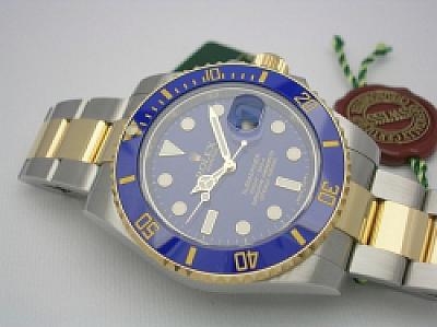 ROLEX SUBMARINER 116613LB 2013 FLAT BLUE DIAL