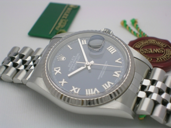 JK Watchstore, World of Rolex, ROLEX DATEJUST 16234 2003 BLUE DIAL JUBILEE