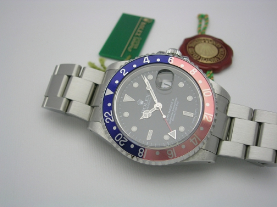 JK Watchstore, World of Rolex, ROLEX GMT-MASTER II  16710 PEPSI 2001
