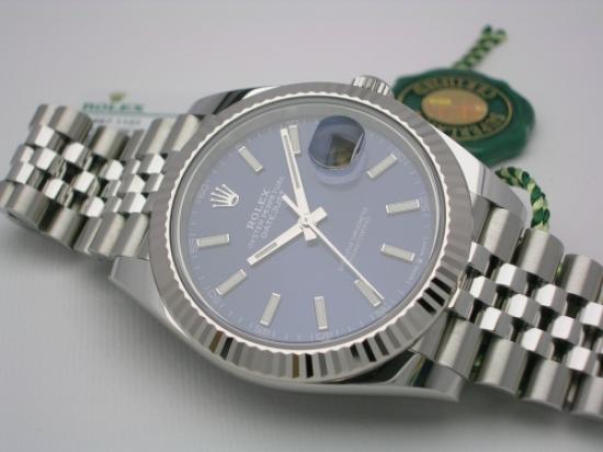 JK Watchstore, World of Rolex, ROLEX DATEJUST 41 126334 2019  BLUE DIAL JUBILEE
